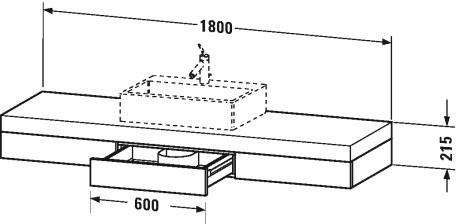 Duravit fogo meubles plan de toilette avec tiroirs for Miroir element m40