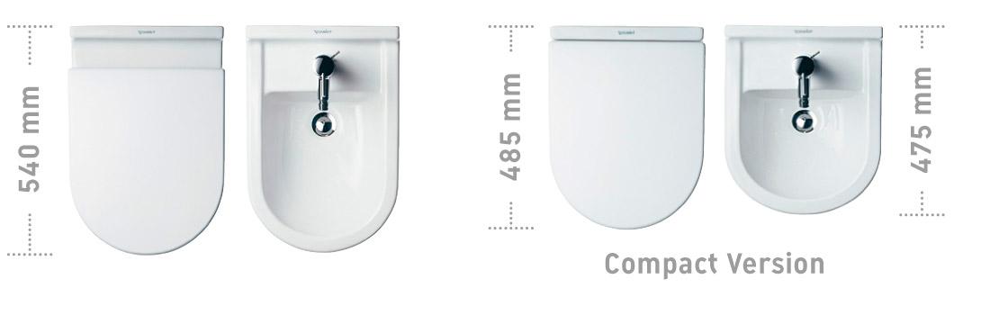 Duravit starck 3 lavabos wc bidets duravit - Bagno piccolissimo misure ...